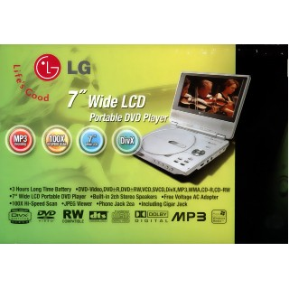 Portable DVD player 7""
